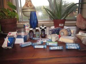 Photo of basic holistic 1st Aid kit